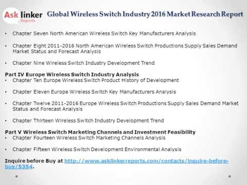 Global Wireless Switch Market Analysis and Forecasts New Research Report 2016