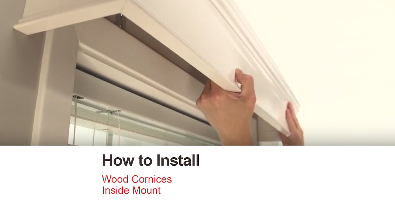 Diy Wood Cornice Bali Blinds How To Install Wood Cornices Inside Mount Youtube