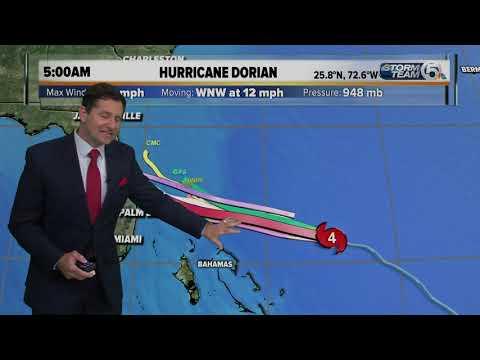 El huracán Dorian se reforzó, ya es categoría 4 y amenaza Florida