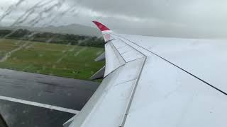 Air Mauritius A350 taking off from Mauritius