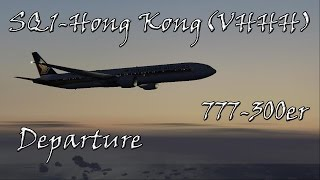 Hong Kong SQ1 777-300er to Singapore Departure Singapore Airlines IVAO  FS2004