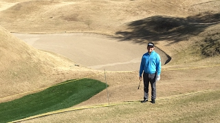 From the depths of the bunker on 16 with Zac Blair!