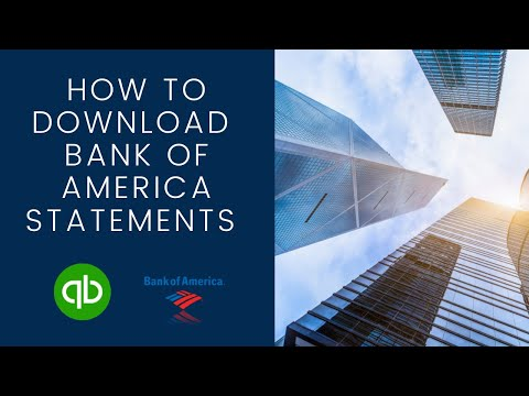 How To Download Bank Of America Bank Statements To Quickbooks Online