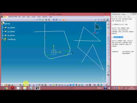 9 CATIA V5 , SKETCHER WORKBENCH, CORNER TOOL