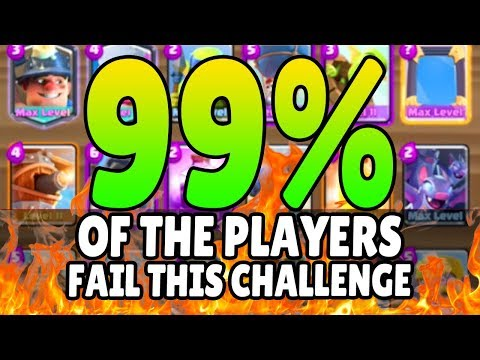 99% OF YOU CAN'T DO THIS!   Clash Royale Mega Deck Challenge