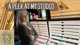 A Quick Tour of my Workspace / Art Studio