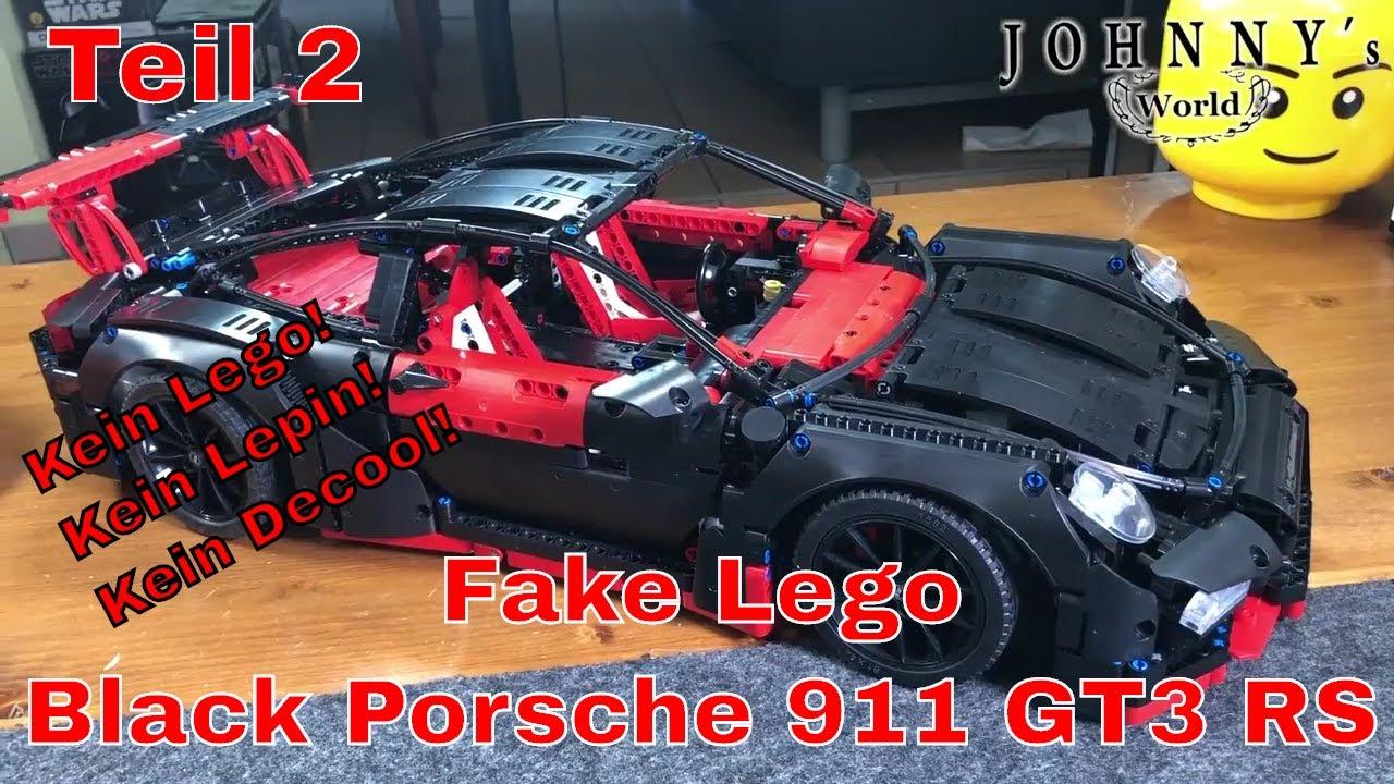 Part 2 Fake Lego Black Porsche 911 Gt3 Rs Not Lepin Or Decool Block 2 4