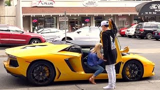 Guy With Lamborghini Steals Girl From Dude in Fancy Car PRANK!!