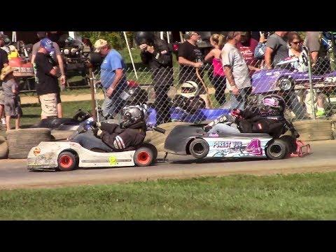 Women Kart Feature | Eriez Speedway | 9-23-17