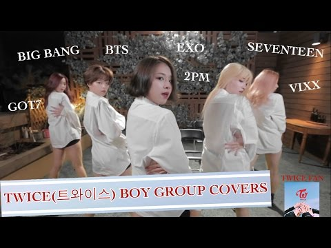 TWICE(트와이스) DANCING TO BOY GROUP SONGS