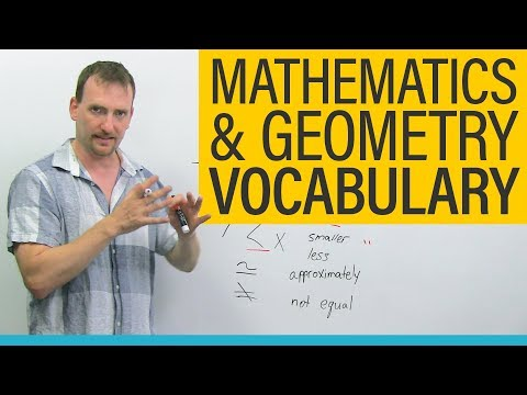 MATH & GEOMETRY Vocabulary and Terminology in English