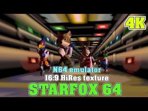 STARFOX 64 / 4K 16:9 HiRes RTX 2080ti / N64 Emulator Project 64