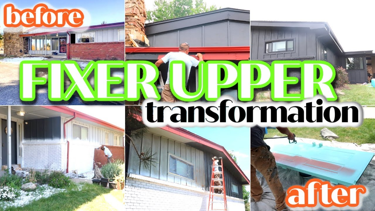 RENOVATING OUR FIXER UPPER | MID-CENTURY PAINT TRANSFORMATION | INSANE BEFORE AND AFTER!
