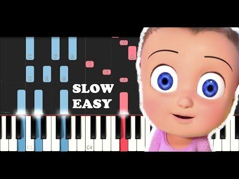 Johny Johny yes papa Theme (SLOW EASY PIANO TUTORIAL)