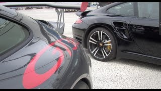 Porsche GT3 RS vs Porsche Turbo S with Porsche Cayenne