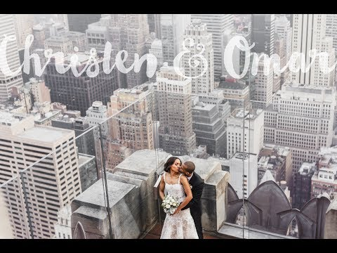 Christen and Omar Wedding | Lotte New York Palace Hotel | Gapstow Bridge | Top of The Rock