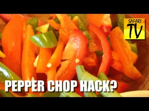 How to chop a pepper - by the PEPPER KING - hack / cut / slice away capsicum people