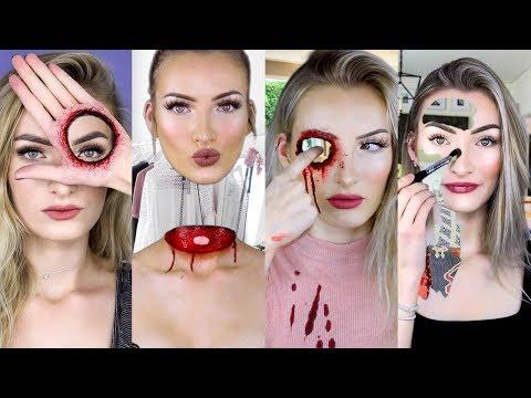 MAGIC OR MAKEUP?!   Halloween SFX Makeup Compilation   Simple Symphony