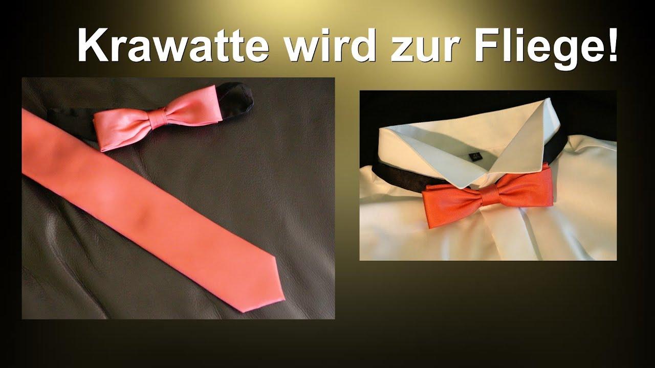 Krawatte wird zur Fliege / RuthvonG - YouTube