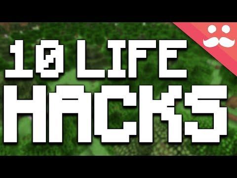 Top 10 LIFE HACKS in Minecraft 2017! #2