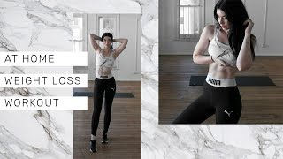 20 MIN HOME WEIGHT LOSS WORKOUT || No equipment training