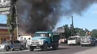 """Кара-Балта Пожар в кафе """"Ак-Бата"""""""