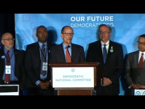Tom Perez elected as new DNC chairman