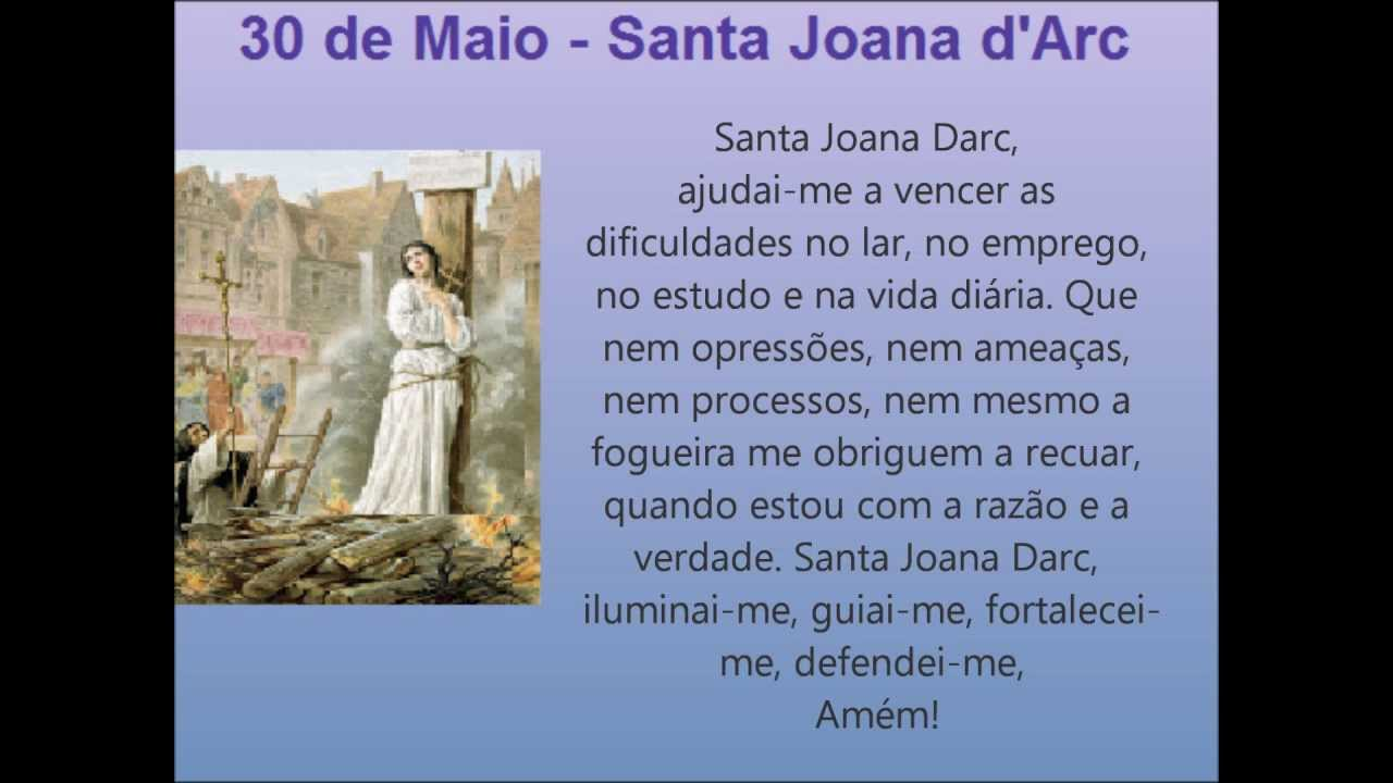 30 de Maio - Santa Joana D`arc - Vida e Oração - YouTube