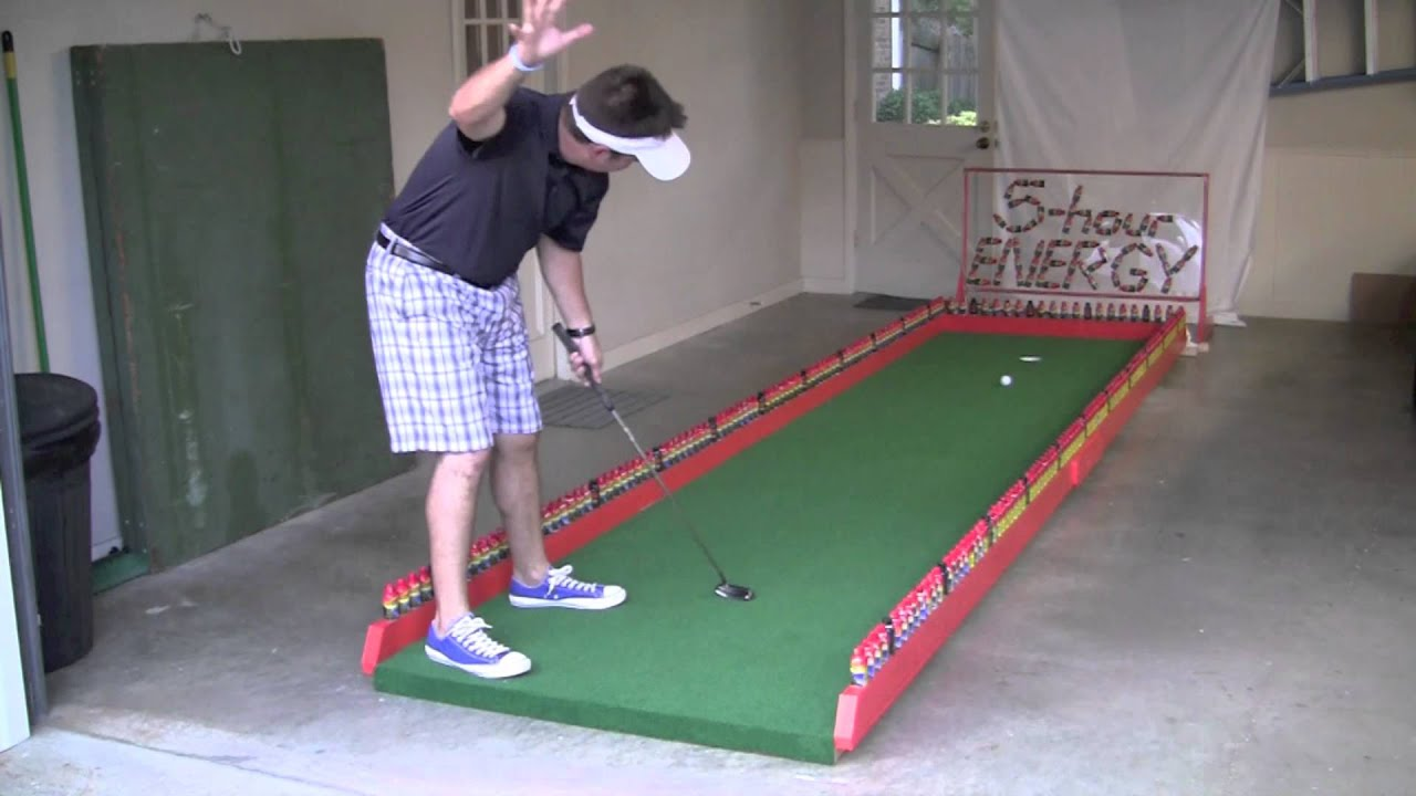 5-Hour Energy Putting Green by Mattie 5 - YouTube