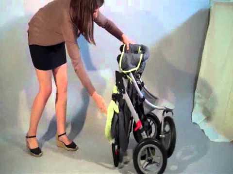 Pliage de la poussette 3 roues par Bébé Achat - YouTube