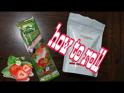 How to roll juicy hemp wraps strawberry Fields ASMR