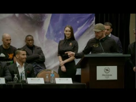 BILLY JOE SAUNDERS VS DAVID LEMIEUX FINAL PRESS CONFERENCE IN MONTREAL, CANADA
