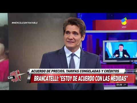 """Increíble! Brancatelli """"felicitó"""" al gobierno por sus nuevas medidas"""