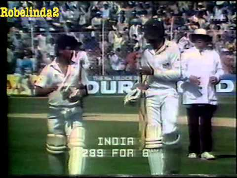 *RARE* 1987 WORLD CUP - INDIA v AUSTRALIA -  MATCH 15 HIGHLIGHTS