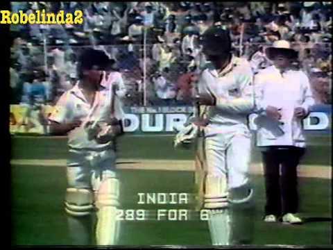 *RARE* 1987 WORLD CUP  INDIA v AUSTRALIA   MATCH 15 HIGHLIGHTS