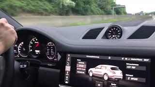 2018 Porsche Cayenne TURBO Autobahn&Sound Tunnel !!!