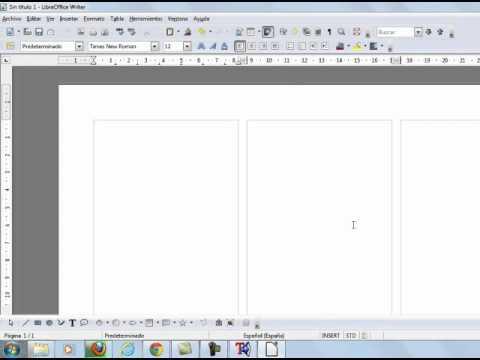 Como Hacer Un Triptico Con El Programa Libre Office 2016 Youtube