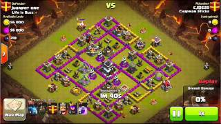 Flying Spaghetti Monster - Daddy's Dark/Air Attack Strategy Tested - Clash of Clans - cjd528