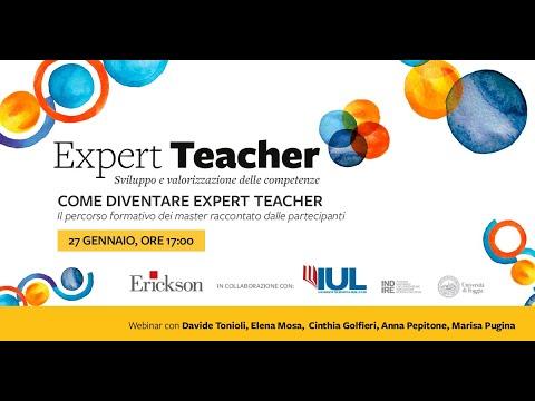 Come diventare Expert Teacher. Il percorso formativo dei master raccontato dalle partecipanti.