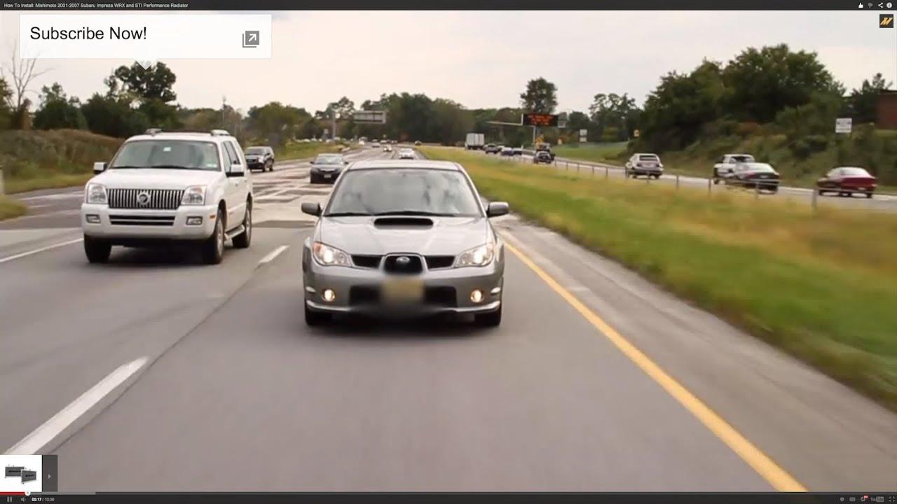 2001–2007 Mishimoto Subaru WRX//STI Performance Aluminum Radiator