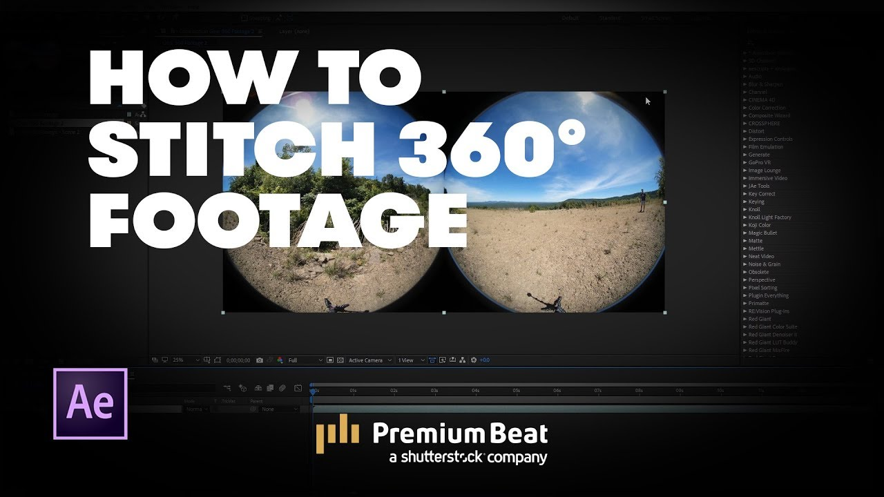 Video Tutorial: How to Stitch 360 Footage in After Effects