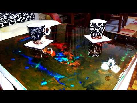 EPOXY RESIN ON IKEA COFFEE TABLE