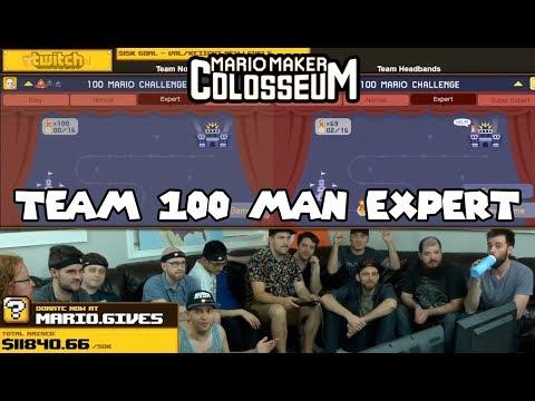 Team 100 Man Expert Race Mario Maker Colosseum