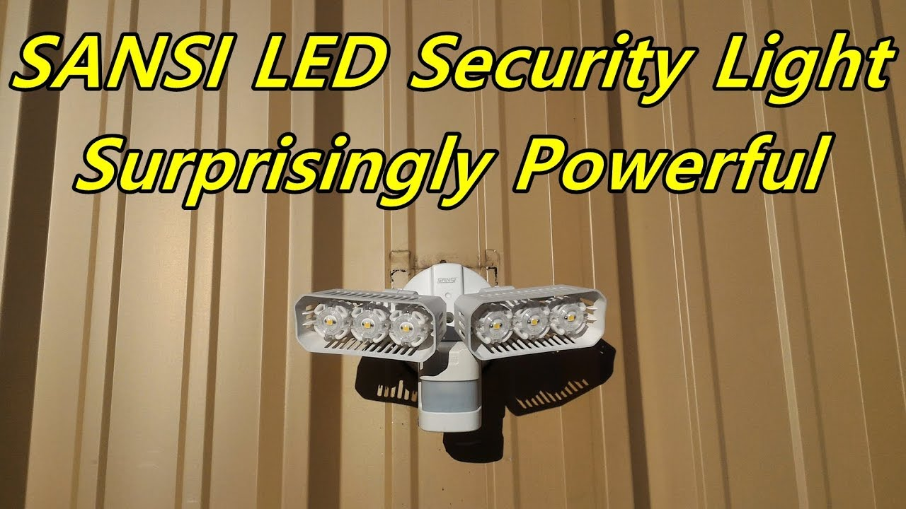 Sansi led security light review install and testing youtube sansi led security light review install and testing aloadofball Choice Image