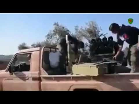 Afrin'de 2 Askerimizi Şehit Eden YPG'li Kadın Teröristler Böyle Görüntülendi