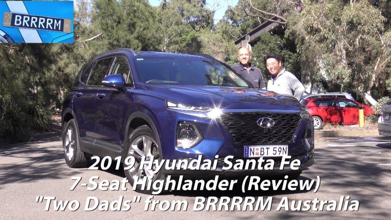 2019 Hyundai Santa Fe Highlander 7 Seat Suv Two Dads Review