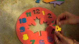 Обзор детские Пазлы EVA - часики