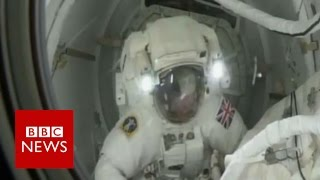 Tim Peake: ' Spacewalk is a 'proud moment' - BBC News
