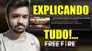 EXPLICANDO O VÍDEO FAKE DE GERADOR DE DIAMANTES NO FREEFIRE!