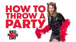 Comic Relief Fundraising Tips: How to Throw a Party